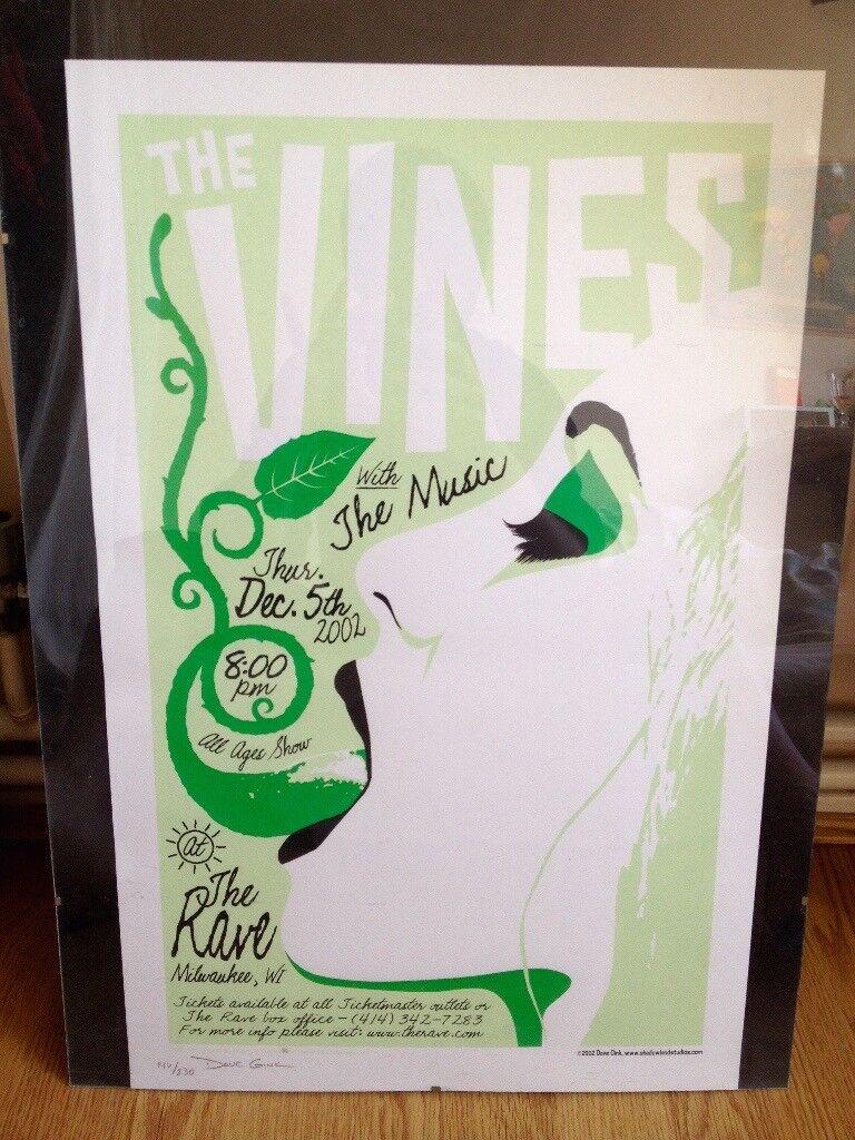 The Vines Live @ The Rave, Milwaukee screen print RARE