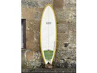 CAN SEND, 7S Surfboard 6'0 fish, thruster, quad, twin fin, Fun Board, fins