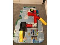Big City Garage/Car Park/Road map in soft storage case