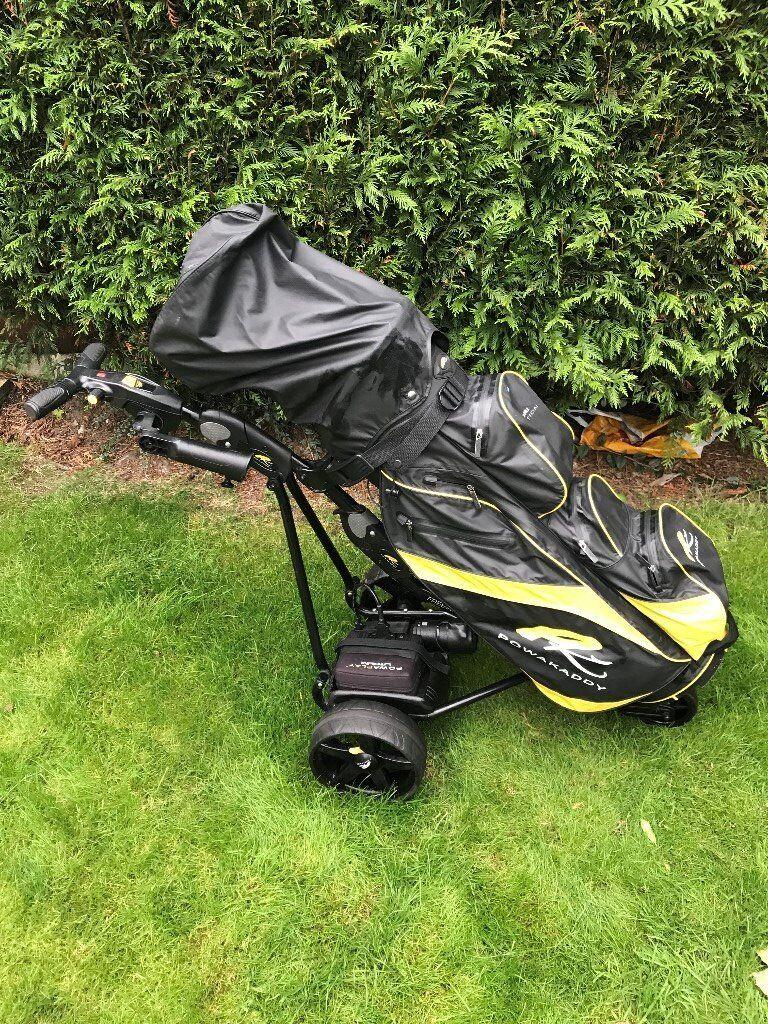 PowaKaddy Freeway Digital Golf Trollley With Lithium Battery & Umbrella  Holder   in Bowdon, Manchester   Gumtree