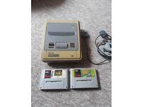 Super Nintendo + Games