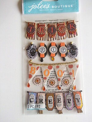 JOLEE'S BOUTIQUE STICKERS - HALLOWEEN WORD BANNERS  creepy - boo -