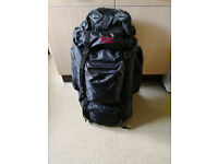 In excellent brand new condition Nevis Highlander 85 litre black rucksack / backpack / luggage, £50
