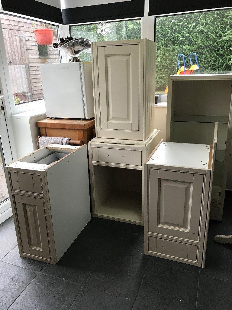 Homebase Kitchen Furniture Five Cream Coloured Homebase Buckinghamshire Range Ex Display