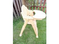 Solid rubberwood Baby High chair