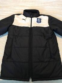 Dundee FC match day padded coat .age 12/14 Puma