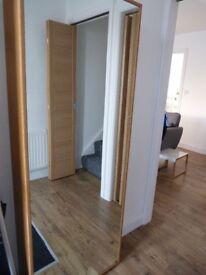 Dwell Solid Oak, Mirrored Shoe Cabinet