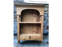 Pine wood wall cabinet for shelving or storage