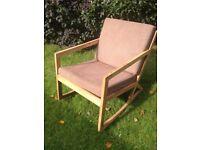 new Swedish rocking chair - warm brown chocolate - dimensions: W65cmXD97cmXH78cm.