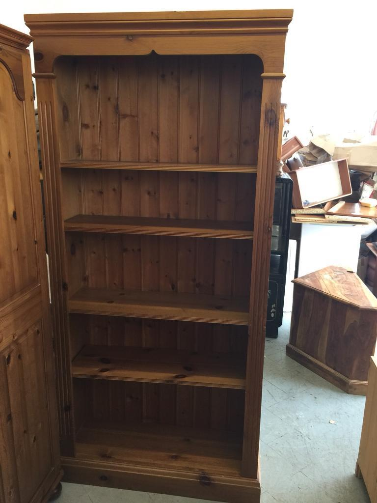 Solid pine bookcase can deliver