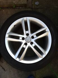 """Genuine Audi Alloy Wheels And Tyres 18"""""""