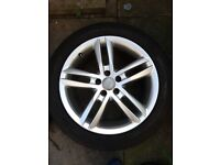 Genuine Audi Alloy Wheels And Tyres 18""