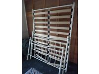 metal bed frame double bed