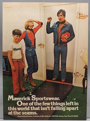 Vintage Magazine Ad Print Design Advertising Maverick Sportswear