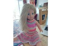 2 Gotz Dolls: Jessica 46cm & Baby Maxy Muffin 42cm. Non toxic, soft body. Plus bundle clothes.