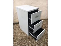 Filing cabinet, metal, three drawers