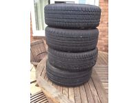 Alloy wheels and tyres x4 ..185/55/R14