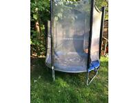 6ft wood worm trampoline