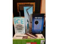 Blue snowball, stand and pop filter
