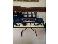 Exelent condition yamaha keyboard with stand and carry case