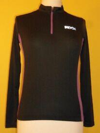 Ladies: Dare2b Ridge Long Sleeved Purple & Black Cycling Jersey – Sizes: 10 & 12