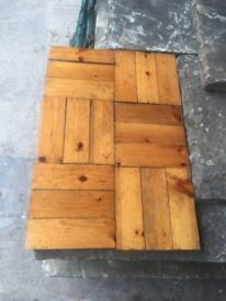 10 Square meter's of thick pitch pine Parquet flooring