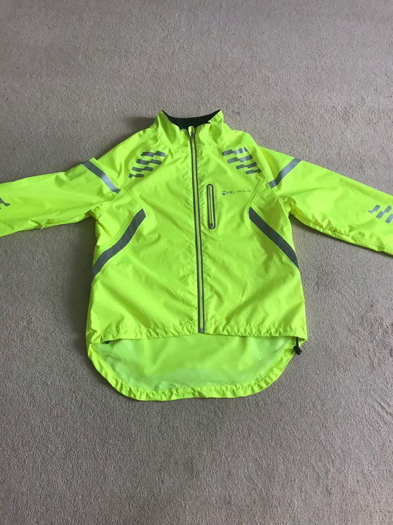 Piu Miglia Mens Reflective Commuter Cycling Jacket Blue