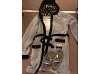 Batman dressing gown & slippers
