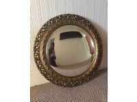 Gold Framed Round Mirror