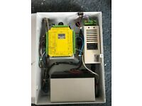 Fire alarm switch board with battery