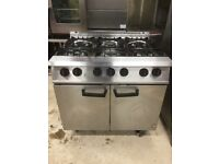 Falcon g2101 commercial 6 burner gas range cooker oven nat gas serviced tested excellent condition