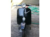 Very rare Vespa Nuova for sale, reconditioned baring the lights