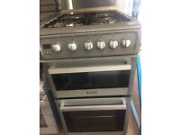 HOTPOINT GAS COOKER 50cm WIDE SEPERATE OVEN SEPERATE GRILL FREE DELIVERY AND WARRANTY