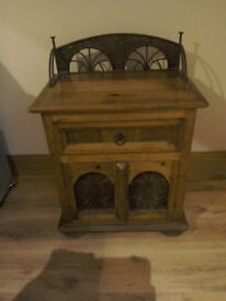Gothic wooden & metal sideboard/cabinet