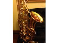 2 Year Old Jupiter Alto Saxophone and Case hardly used and in mint condition