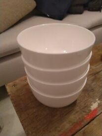 Four Symons bone china cereal bowls (£12 each new) excellent central Ldn