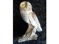 Small pewter owl ornament