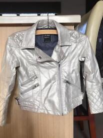 Girls Pearlescent Biker Jacket