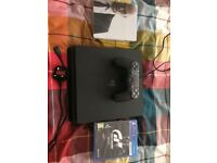 **OFFERS ACCEPTED PS4 SLIM BLACK 500GB WITH CONTROLLER, WIRES AND GAMES INCLUDED!!**