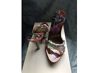 Dior EU 37 limited edition hand-made hand-painted sandals