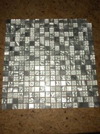 June Mosaic and Pewter Wall Tiles