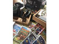 Mario Cart Wii Pack (Black) + Wii Fit + Extra Controllers + Games