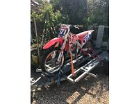 2010 Honda CRF250R Off Road Motocross Bike With 3 Motorbike Trailer