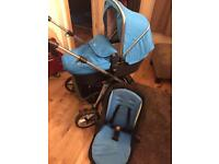 Silvercross pioneer travel system blue