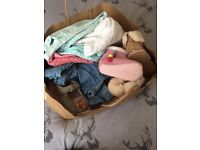 Baby girl bag full of clothes