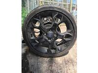2008-2012 fiesta metal 17 inch alloy wheel in black or silver Zetec s complete ready to fit