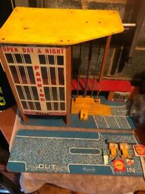 Vintage Mattoy Playcraft car park from 1960's