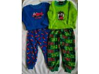 2 x boys pyjamas, size 2-3 y
