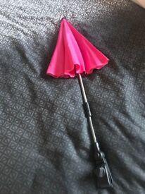 Pink pram parasol
