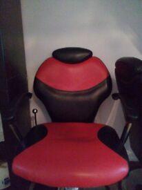 Barber Shop Salon Adjustable/Reclining Chair Heavy Base